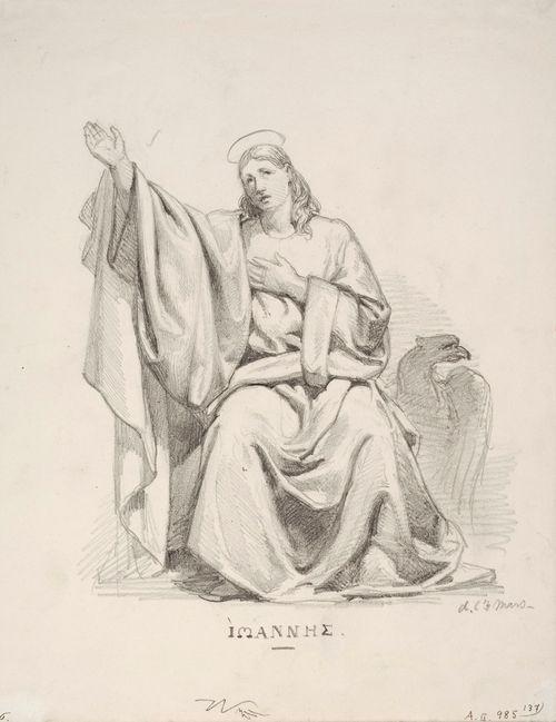 Johannes pukeutuneena runsaslaskoksiseen juhlapukuun, taustalla kotka
