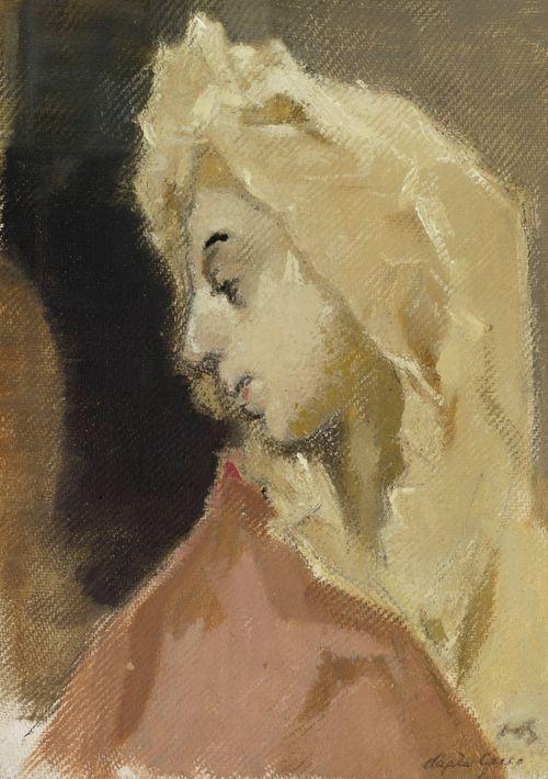 Madonnan profiili, El Grecon mukaan (Maria Magdalenan profiilikuvan mukaan)