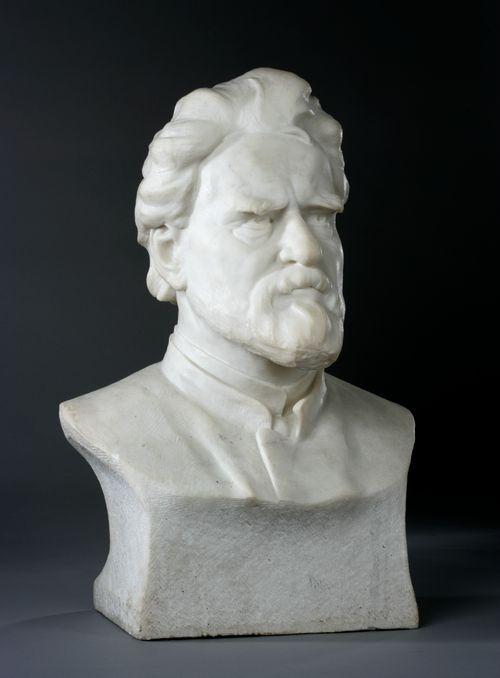 Kuvanveistäjä C.E. Sjöstrandin rintakuva