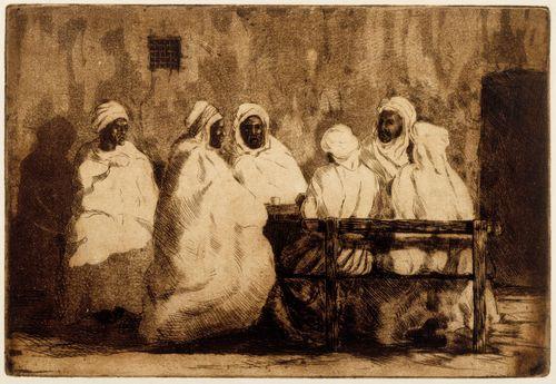 Arabeja kahvilan edustalla Biskrassa