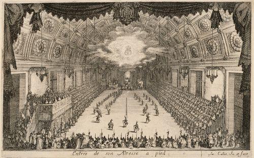Herttua Kaarle IV saapuu jalan