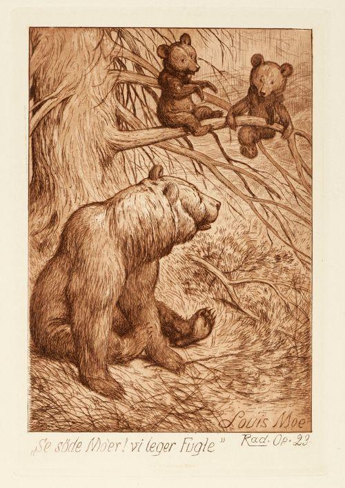 Karhuemo poikasineen