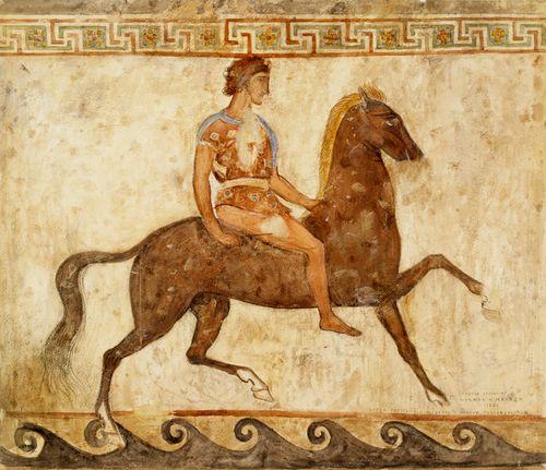 Nuori ratsastaja, kopio napolilaisen museon vanhan seinämaalauksen mukaan