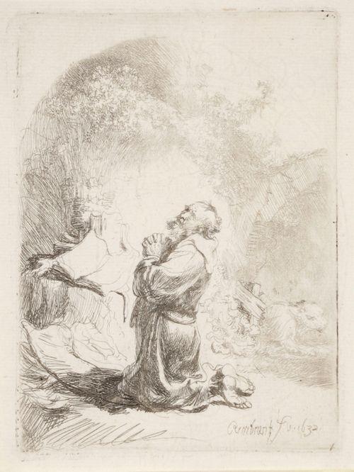 Pyhä Hieronymus rukoilemassa
