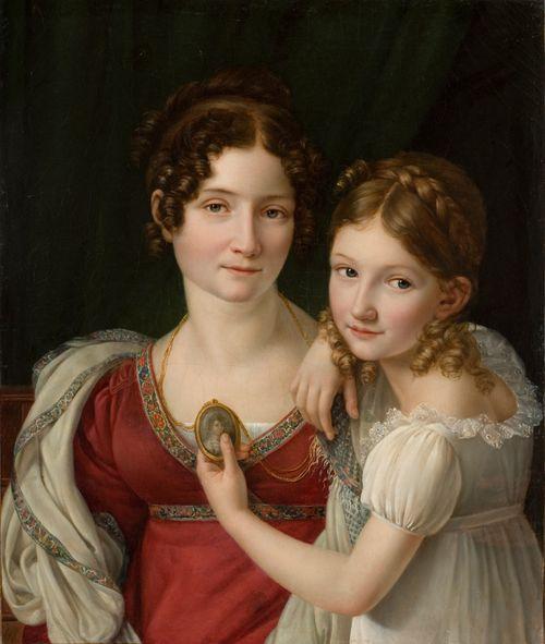 Muotokuva äidistä tyttärensä kanssa
