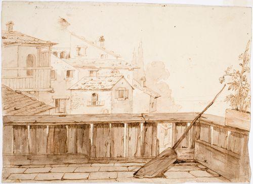 Näköala altaanilta katon yli Rocca di Papaan