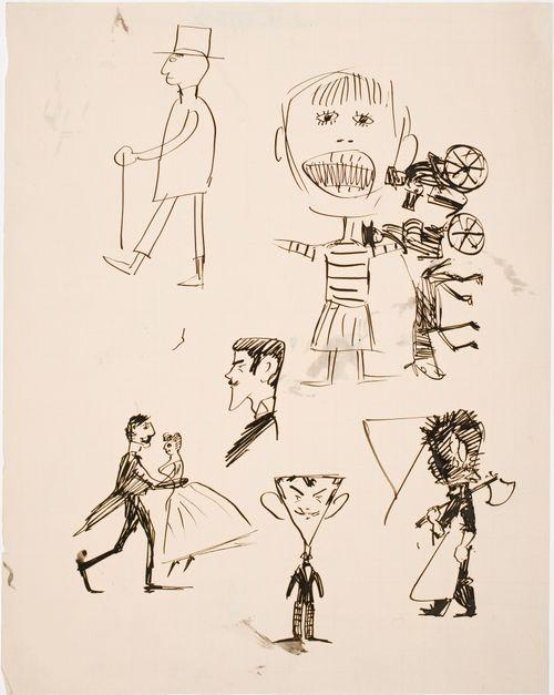 Lapsenomaisia piirustuksia ja pilakuvia