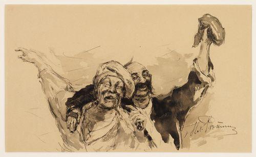 Luonnos maalaukseen Zaporogit kirjoittamassa pilkkakirjettä Turkin sulttaanille