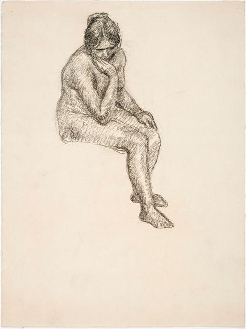 Malliharjoitelma, istuva nainen