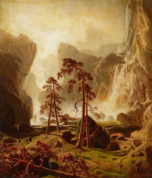 Vuoristoa ja vesiputous