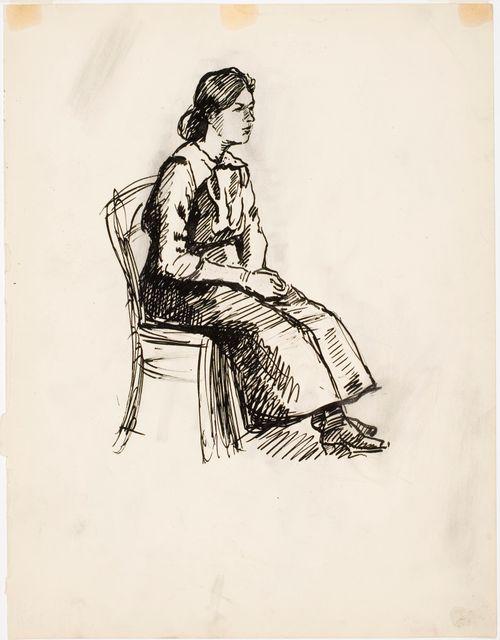 Istuva tyttö