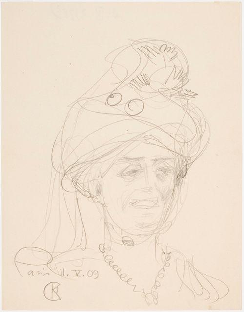 Hattupäinen nainen, harjoitelma