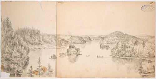 Näkymä Kaukolanharjulta, panoraaman vasemmanpuoleinen osa