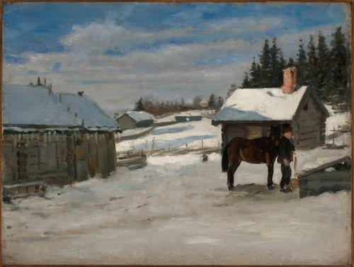 Hevosen juotto, talvikuva