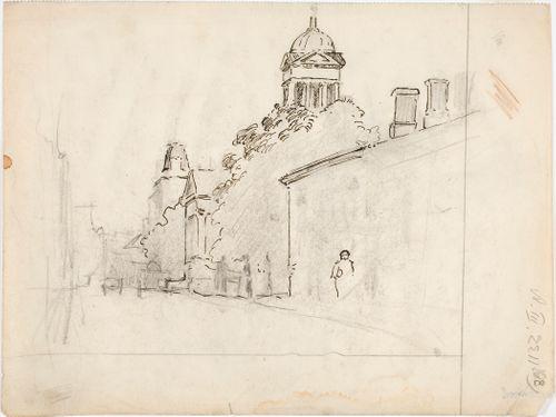 Helsingin Vanha kirkko Lönnrotinkadulta nähtynä