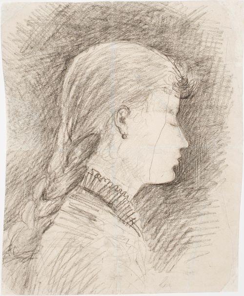 Tytön pää (Gerda Ringbomin, myöh. Bergrothin muotokuva)