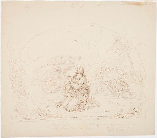 Kristus Getsemanessa, harjoitelma Turun tuomiokirkon freskoja varten