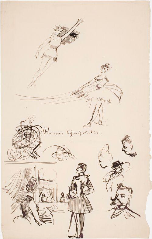 Perissa Grigolatis, tanssijatar ja tyyppejä yleisön lehtereillä