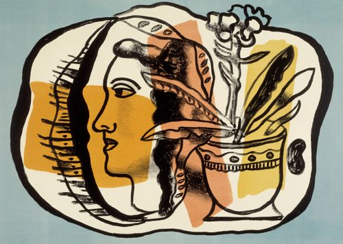 Nainen ja kukkaruukku