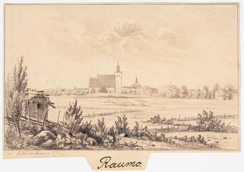Rauma, originaalipiirustus teokseen Finland framställdt i teckningar