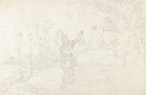 Pohjolan isännän surma, luonnos Kalevala-aiheiseen piirrossarjaan