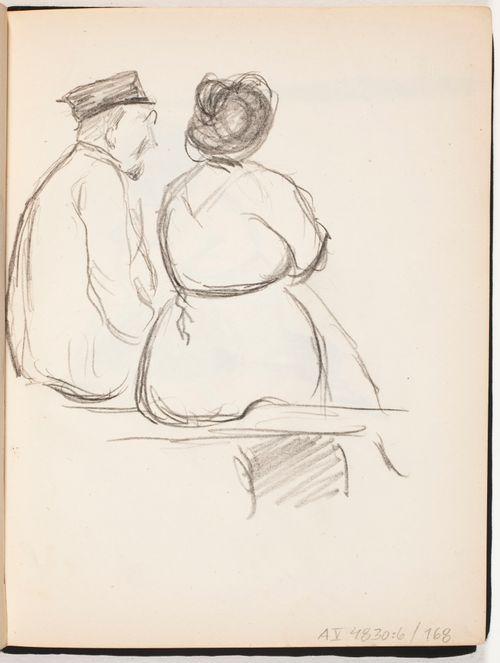 Istuva mies ja nainen