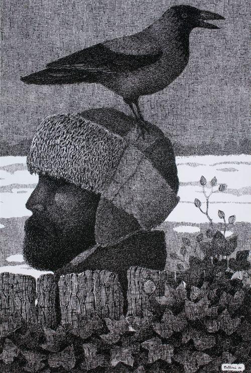 Omakuva karvalakki päässä