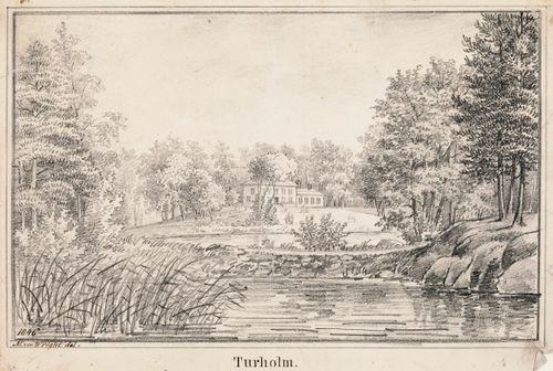 Tuurholma (Tullisaari), originaalipiirustus teokseen Finland framställdt i teckningar