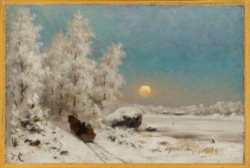Winter Night, Moon Rising