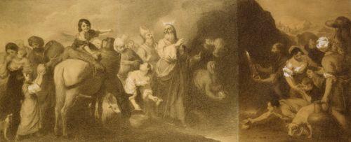 Mooses lyö vettä kalliosta, kopio Murillon mukaan