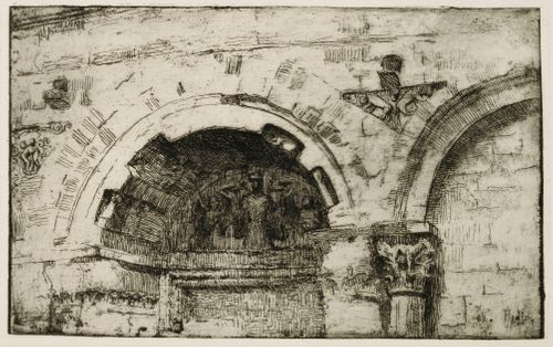 Yksityiskohta Arezzon kirkon fasadista