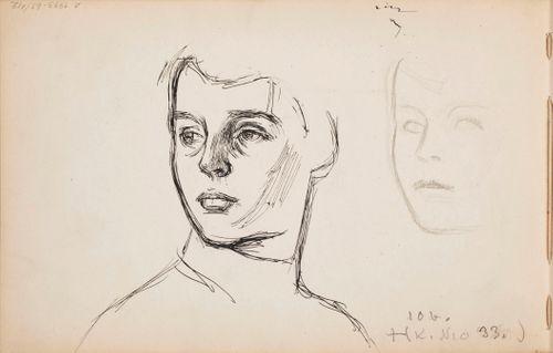 Taiteilijan poika Heikki. Todennäköisesti n. 1905-08