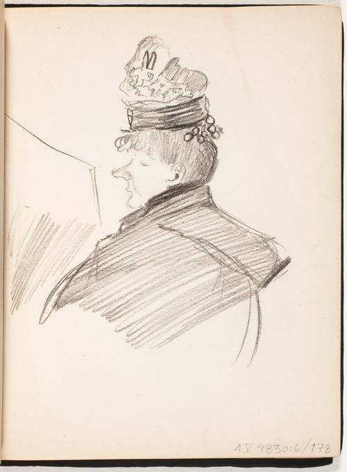 Hattupäinen nainen