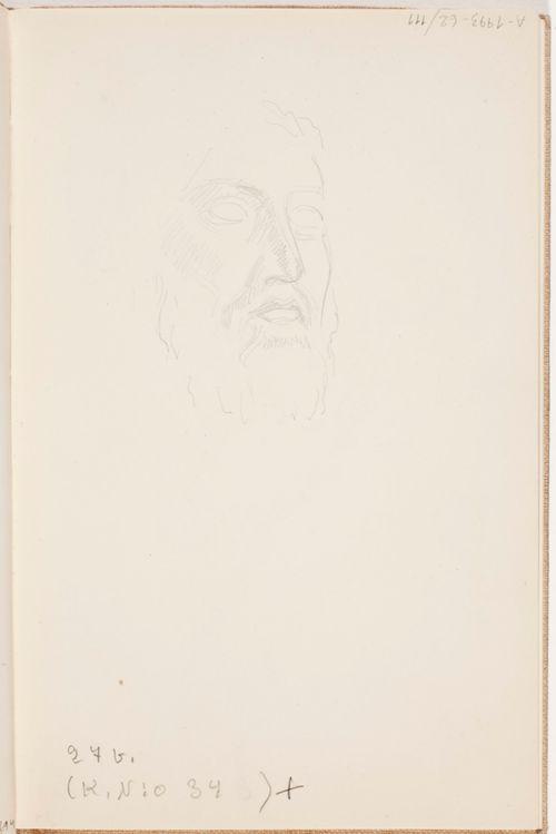 Parrakkaan miehen kasvot. Todennäköisesti n. 1925.
