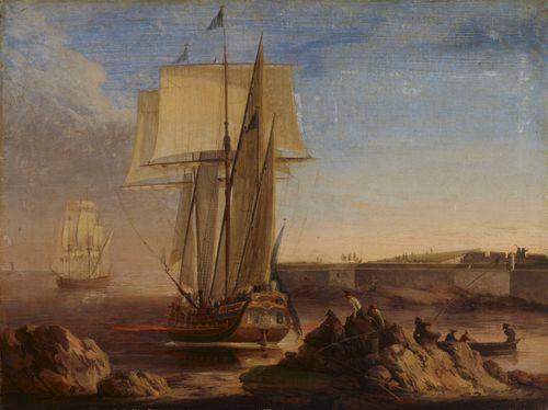 Laivoja Kustaanmiekan salmessa