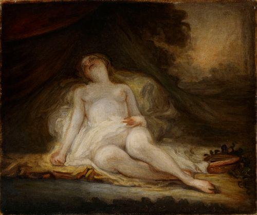 Nukkuva bakkantti, kopio Fragonardin mukaan
