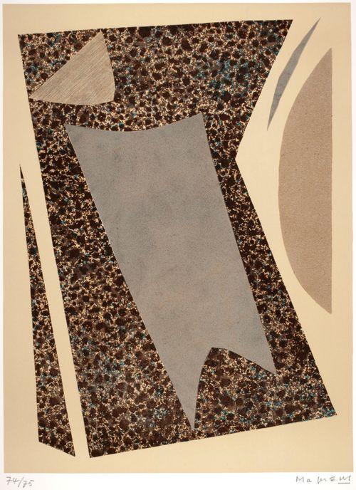 "From the portfolio ""I Collages di Magnelli"", no. 7 ; Magnelli's Collages 7"