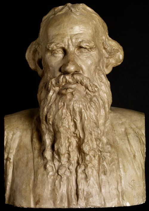 Kirjailija Leo Tolstoin rintakuva