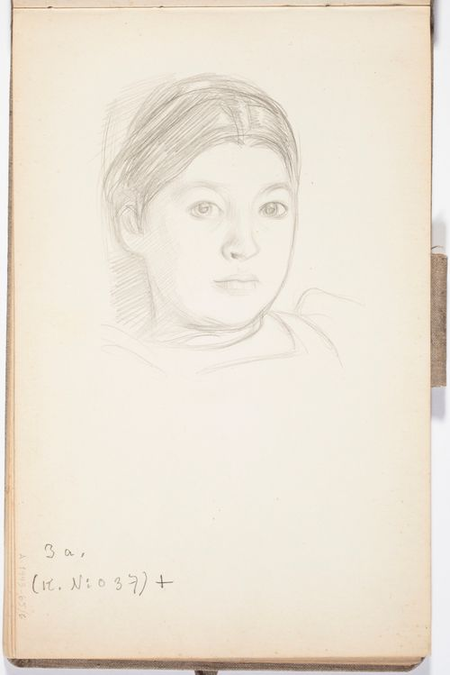 Taiteilijan tytär Leena (Paloheimo) Todennäköisesti n. 1908.