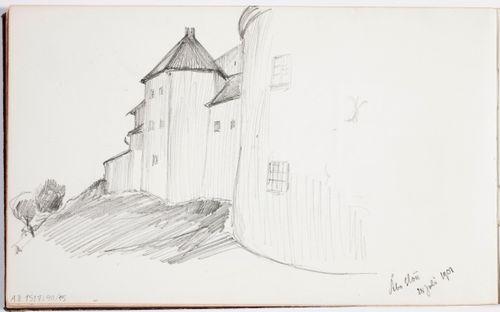 Turun linnaa. Merk. Åbo slott / 28 juli 1901