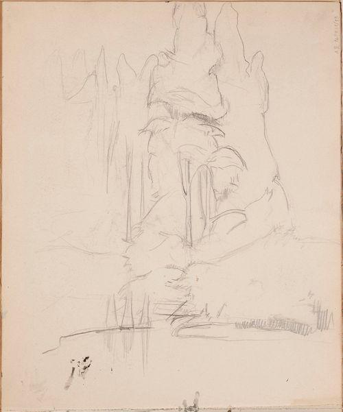 Maisema, luonnos maalaukseen Fantasia 1895