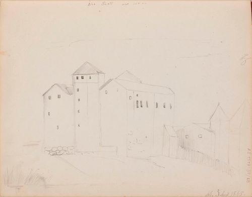 Turun linna. Merkitty: Åbo Slott  /  AE. 5 April 1865.