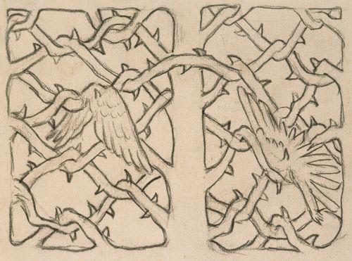 Orjantappuraportti, luonnos Tampereen tuomiokirkon (Johanneksen kirkko) saarnastuolin korkokuvaan