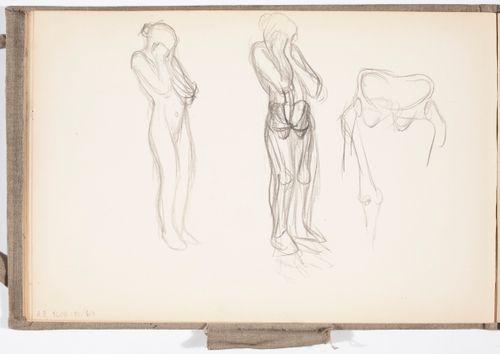 Luonnoksia maalaukseen Itkevä nainen, 1904