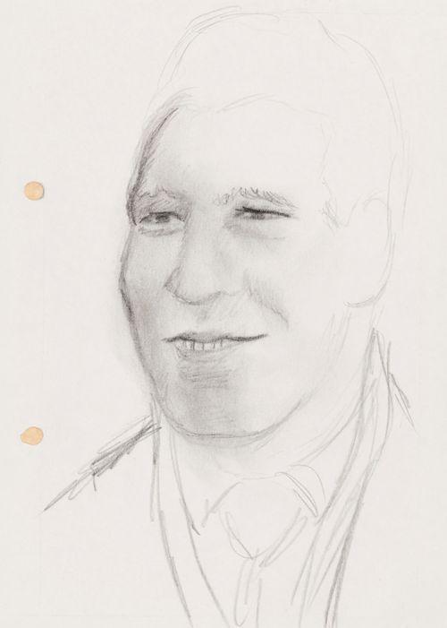 Hymyilevä mies, pää