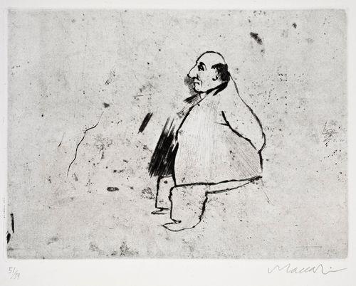 Lihava istuva mies