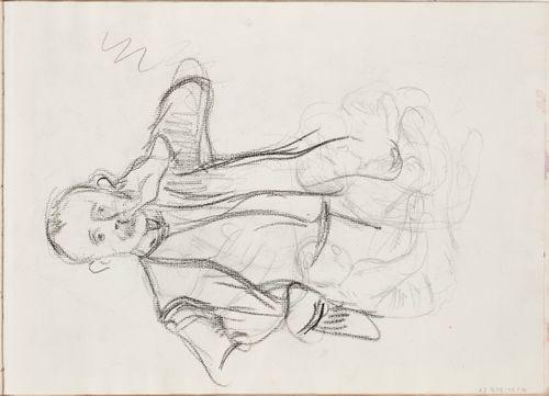 Edvard Richterin muotokuvaluonnos ja luonnoksia istuvista lapsista