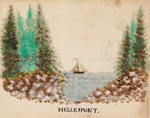 """Purjevene merellä. """"Hellespont"""""""
