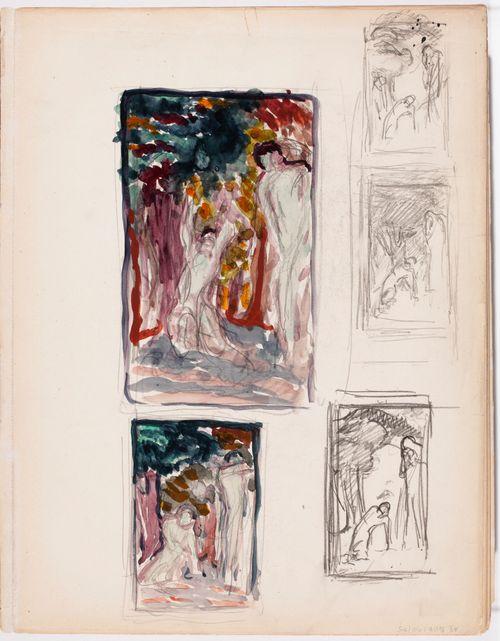 Luonnoksia maalaukseen Haavoittunut nymfi 1912