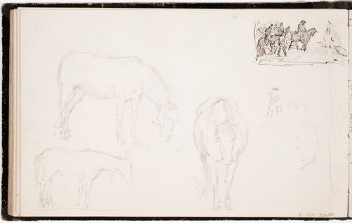 Hevosia ; kohtaus Suomen sodasta